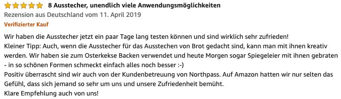 Amazon Northpass Kundenbewertung